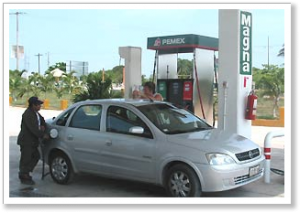 Mexico Travel Car Filling Up