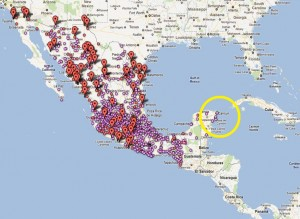 Mexico Drug Violence Map