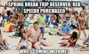 Spring Break Speedo - Go Blue Tours