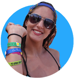 Punta Cana girl with all inclusive bracelets
