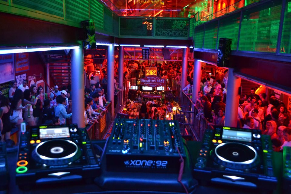 Nightclub with people