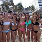Oasis Cancun Spring Break beach group 3