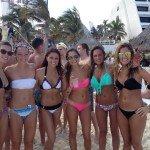 Oasis Cancun Spring Break beach group 3