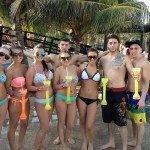Oasis Cancun Spring Break beach group 2