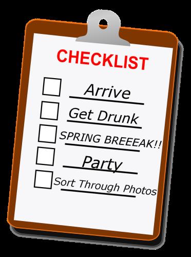 Epic Spring Break Vacation Checklist