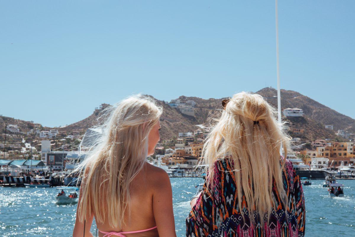 College girls in Cabo for spring break