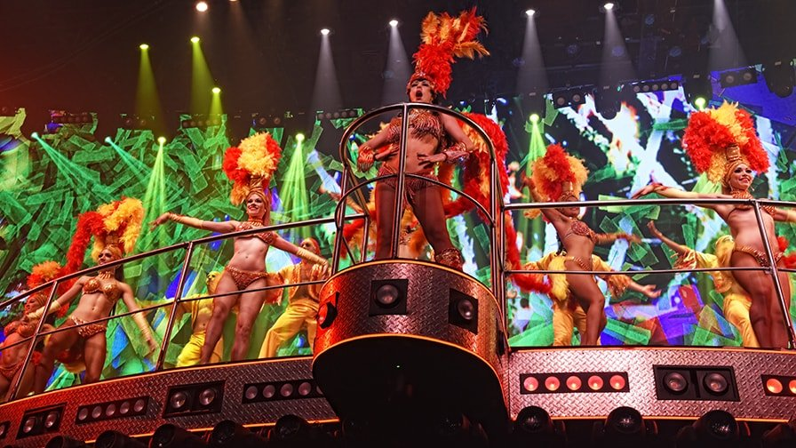 dancer on stage at coco bongo