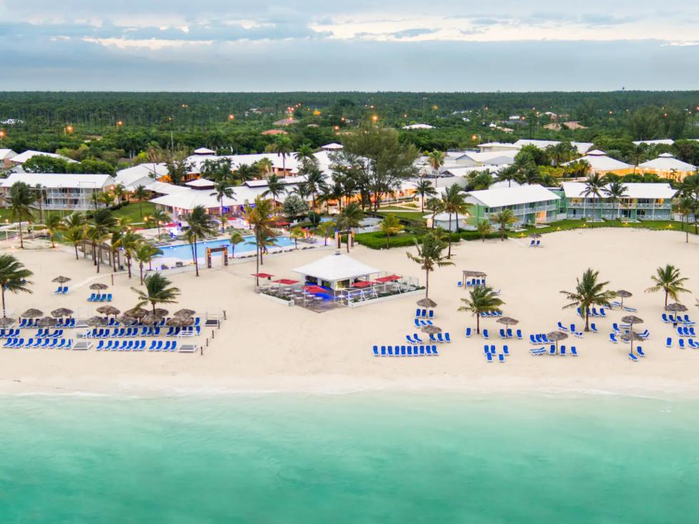 drone image oceanside hotel