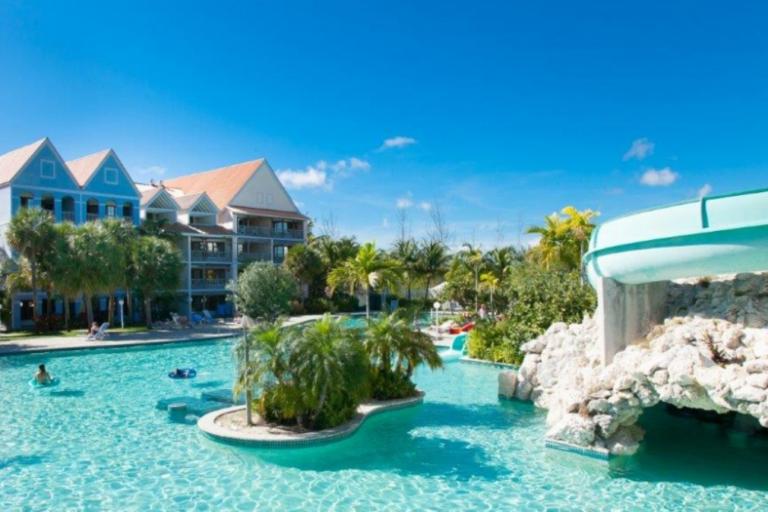 resort pool waterslide