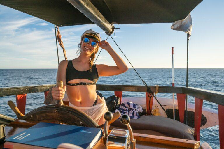 girl boat captain