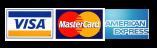 Credit Cards Accepted, Visa, Mastercard, American Express